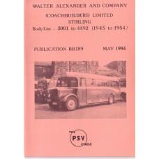 BB189 Alexander 3001-4492 (1945-1954)