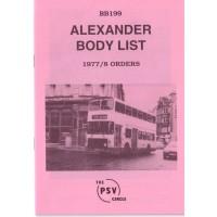 BB199 Alexander 1977 & 1978 orders