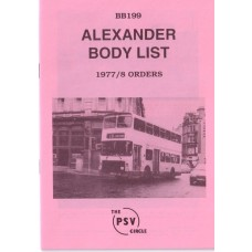 BB199 Alexander built to 1977 & 1978 orders