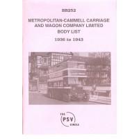 BB252 Metropolitan-Cammell Carriage & Wagon Co. 1936-1943
