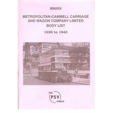 BB252 Metropolitan Cammell Carriage & Wagon Co. 1936-1943