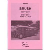 BB280 Brush - Part 2 1930-1940