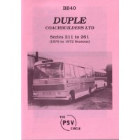 BB40 Duple Coachbuilders Ltd.  Series 211 - 261 (1970 - 72 seasons)