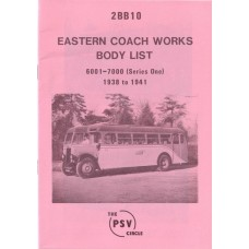 2BB10 ECW 1st series bodies nos 6001-7000