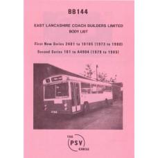 BB144 East Lancs bodies nos 2401-10105, 101-A4904