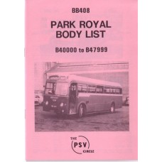 BB408 Park Royal B40000 - B47999