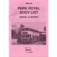 BB413 Park Royal B60501 - B62604