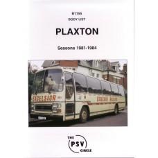 B1155 Plaxton bodies 1981-1984
