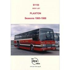 B1156 Plaxton bodies 1985-1988