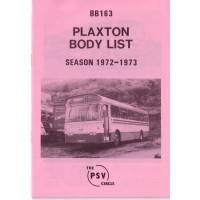 BB163 Plaxton bodies. Season 1972-1973