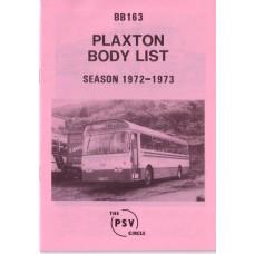 BB163 Plaxton bodies. Season 1972-1973
