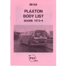 BB164 Plaxton bodies. Season 1973-1974
