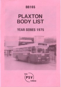 BB165 Plaxton body list year series 1975