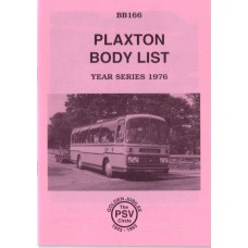 BB166 Plaxton body list year series 1976
