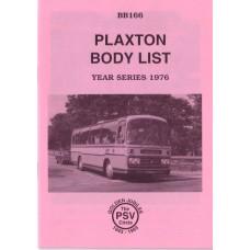 BB166 Plaxton body list year series 1976