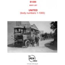 B1200 United Body List Part 1 (Body Nos. 1 to 1000)