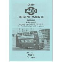 CXB99 AEC Regent III 0961/9613 - nos 6389 - 8261, Regent IV