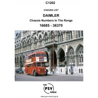 C1202 Daimler Chassis Numbers 16685 - 36370