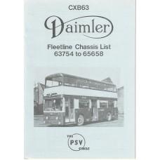 CXB63 Daimler Fleetline 63754 - 65658