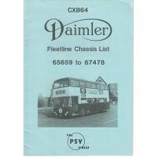 CXB64 Daimler Fleetline 65659 - 67478