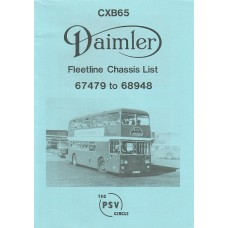 CXB65 Daimler Fleetline 67479 - 68948