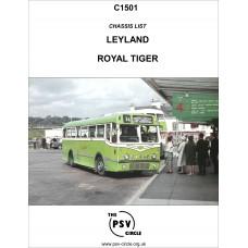 C1501 Leyland Royal Tiger Chassis (including PSU1, OPSU1, OPSU2, OPSU3, LOPSU1, LOPSU2, LOPSU3)
