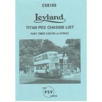 CXB160 Leyland Titan PD2 530706-570422