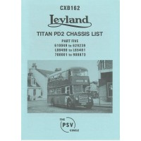CXB162 Leyland Titan PD2 610049-629239, L00490-L654481, 700001-900873