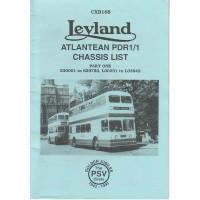 CXB168 Leyland Atlantean PDR1/1 Part 1 530001-629750, L00031-L03842