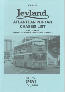 CXB170 Leyland Atlantean PDR1/1 Part 3 900075-904042, 7000038-7304627