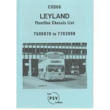 CXB66 Leyland Fleetline 7500870 - 7703998
