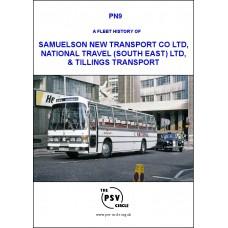 PN9 A Fleet History of Samuelson New Transport Co Ltd, National Travel (South East) Ltd, & Tillings Transport