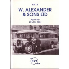 PM14 W. Alexander & Sons Limited Part 1 1914-31