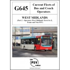 G645 West Midlands Part 2: West Midlands Travel to Z, Trams and Non-PSV