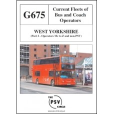 G675 West Yorkshire Part 2: Operators Mc to Z and Non-PSVs
