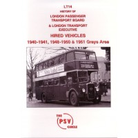 LT14 History of LPTB and LTE hired vehicles 1940/1, 1948-50