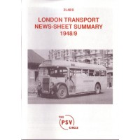 2L48 1948/9 London Transport News Sheet Summary