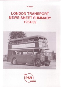 2L54 1954/5 London Transport News Sheet Summary