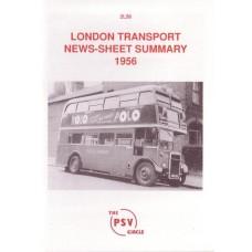 2L56 1956 London Transport News Sheet Summary