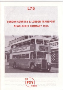 L75 London Country & London Transport News Sheet Summary 1975