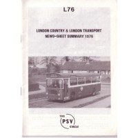 L76 London Country & London Transport News Sheet Summary 1976