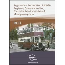 RLC1 Registration authorities of the North West traffic area, Anglesey, Caernarvon, Flint, Merioneth & Montgomery