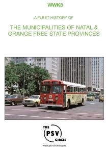 WWK8 Municipalities Of Natal & Orange Free State Provinces